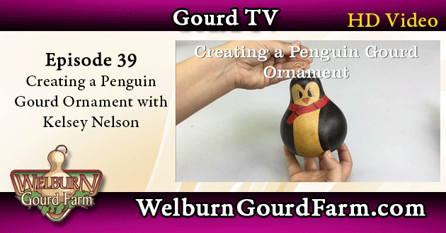39: Creating a Penguin Gourd Ornament