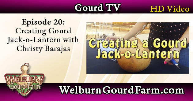 Episode 20: Creating a Gourd Jack-o-Lantern with Christy Barajas